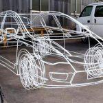 針金のワイヤーフレーム車がCGみたい!製作日数と作った人は誰?