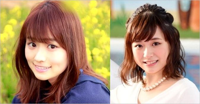 篠原梨菜と大原櫻子の画像比較